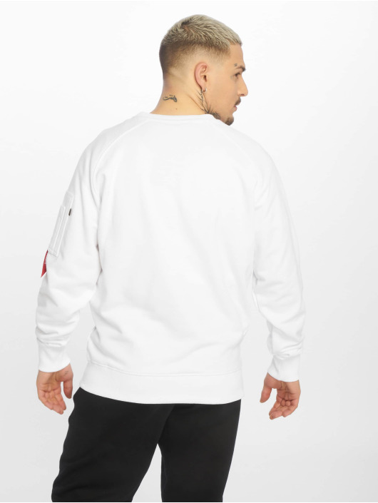 Alpha Industries Pullover X-Fit weiß