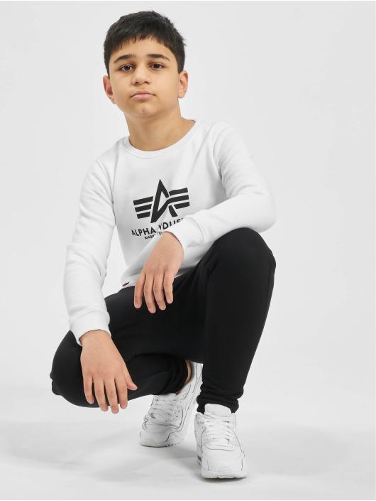 Alpha Industries Pullover Basic Sweater weiß