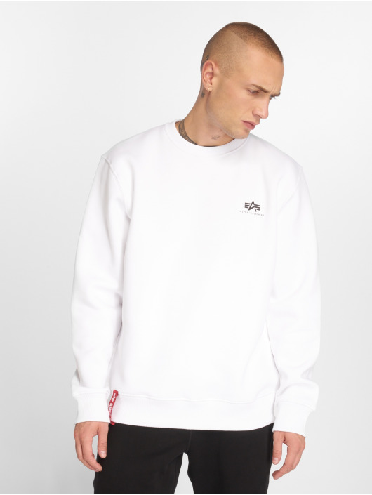 Alpha Industries Pullover Basic Small Logo white