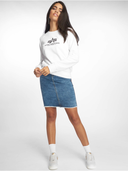 Alpha Industries Pullover New Basic white