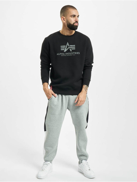 Alpha Industries Pulóvre Basic Reflective Print èierna