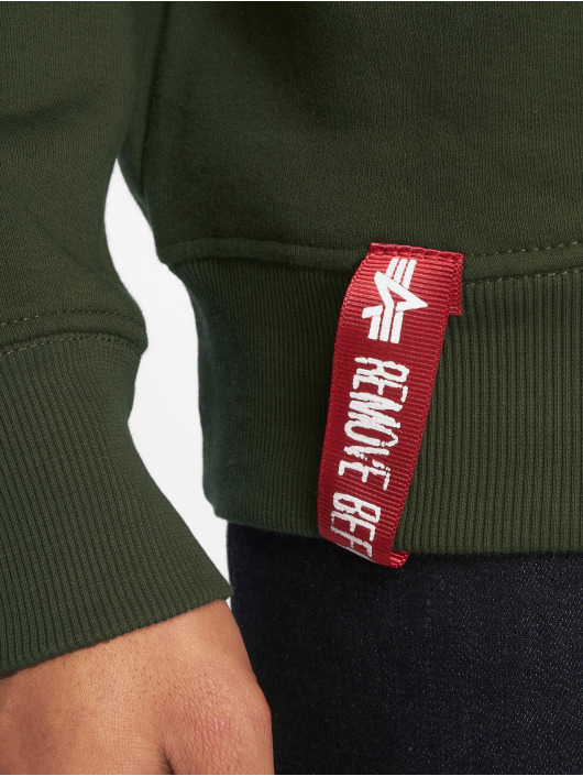 Alpha Industries Pulóvre Basic Small Logo zelená