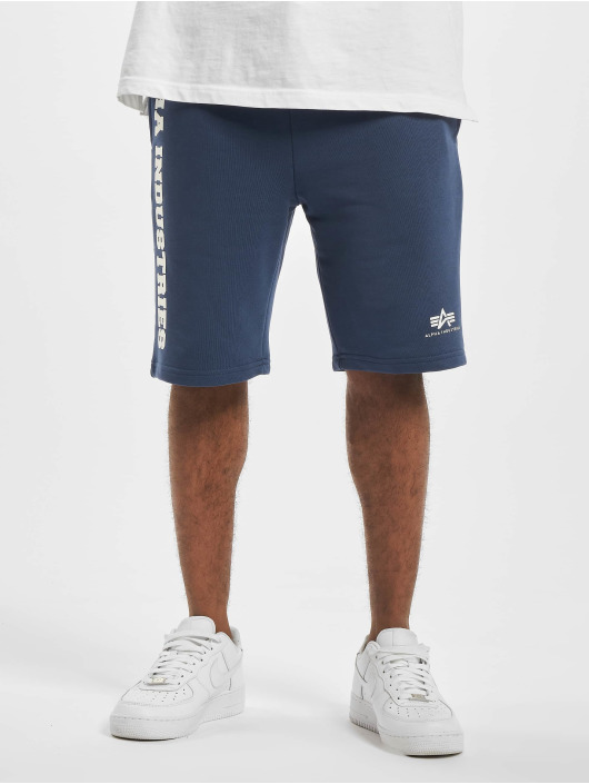 Alpha Industries Shorts Big Letters blau