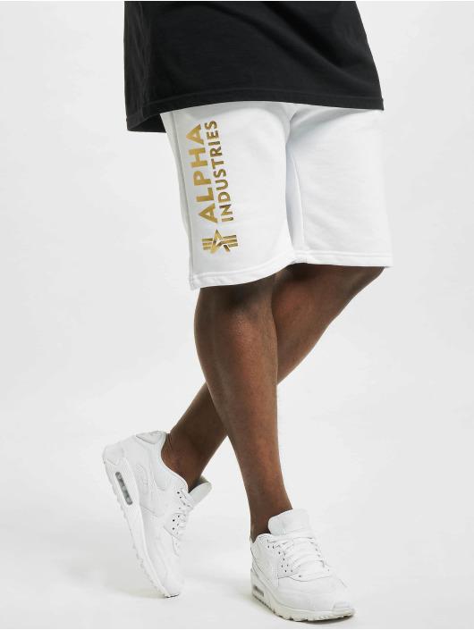 Alpha Industries Shorts Basic Ai Foil Print hvid