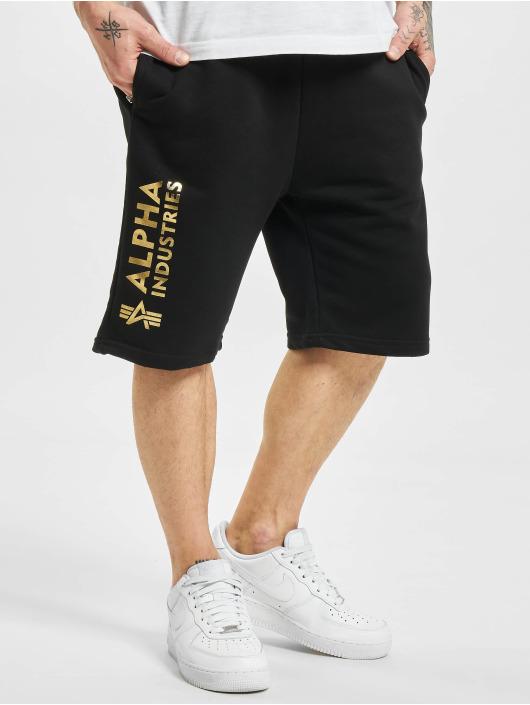 Alpha Industries Shorts Basic Ai Foil Print svart