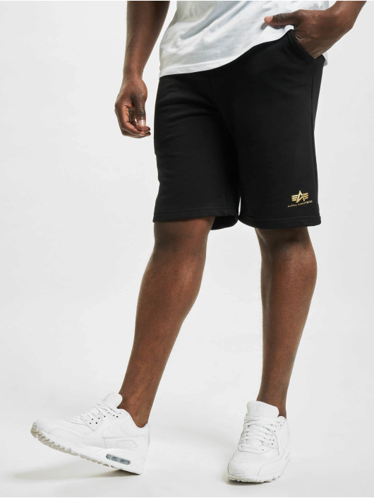 Alpha Industries shorts Basic Sl Foil Print zwart