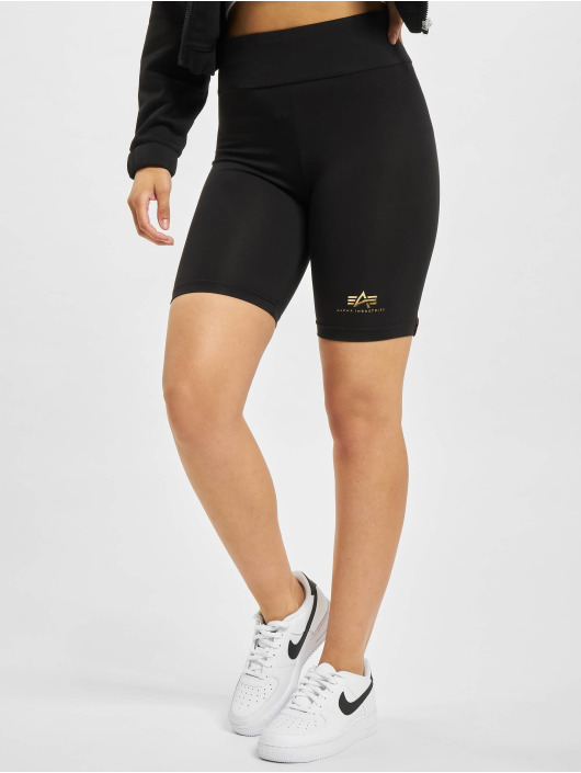 Alpha Industries shorts Basic Bike Foil Print zwart