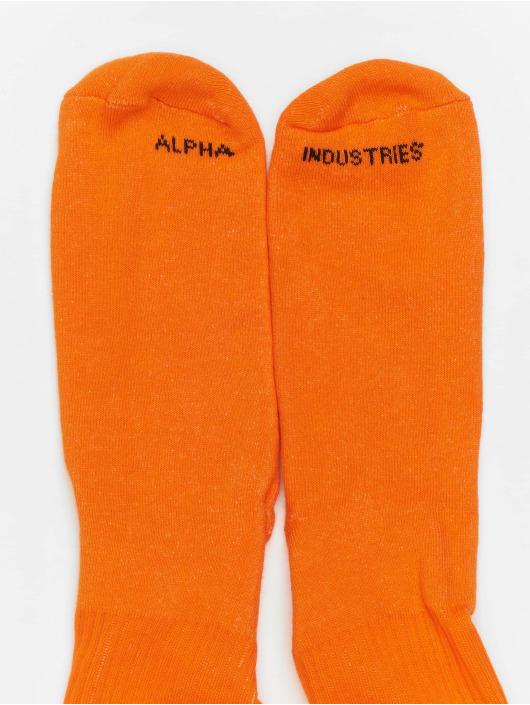 Alpha Industries Skarpetki Stripe pomaranczowy