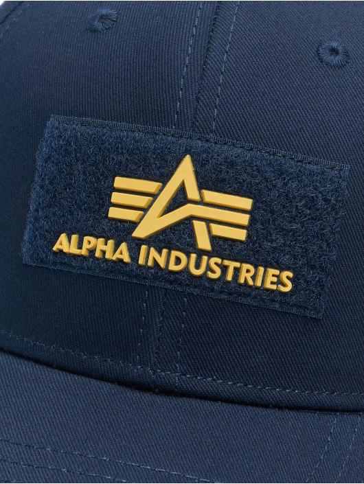 Alpha Industries Snapback Cap Velcro II blau