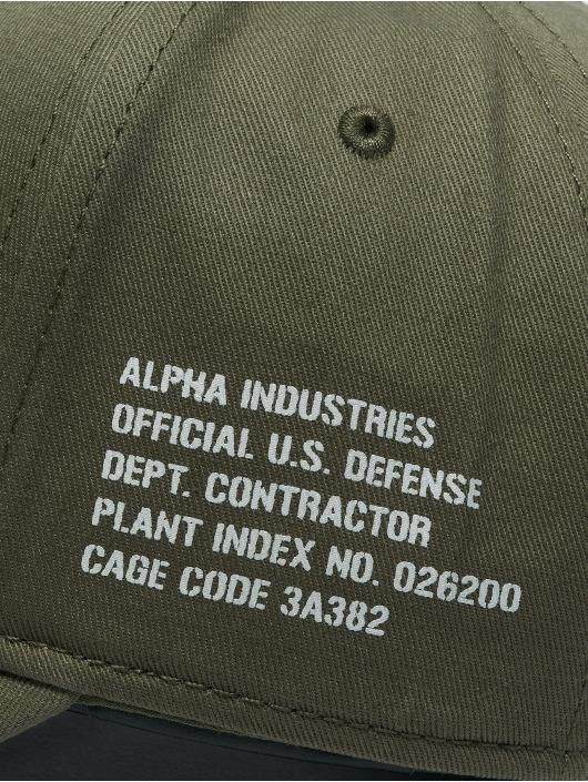 Alpha Industries snapback cap Army groen