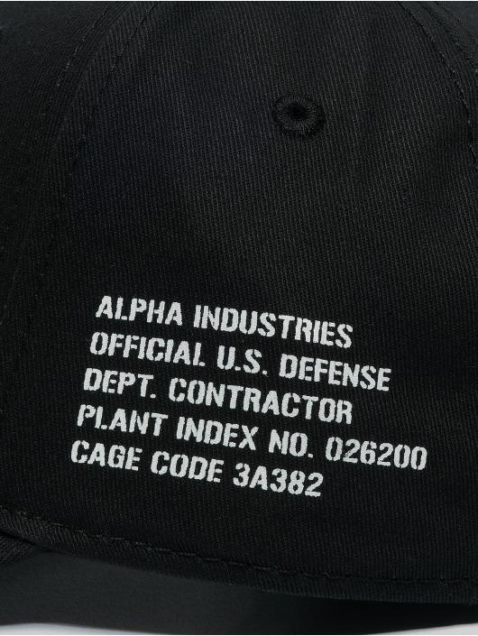 Alpha Industries snapback cap Army zwart