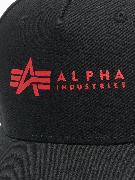 Alpha Industries snapback cap Alpha zwart