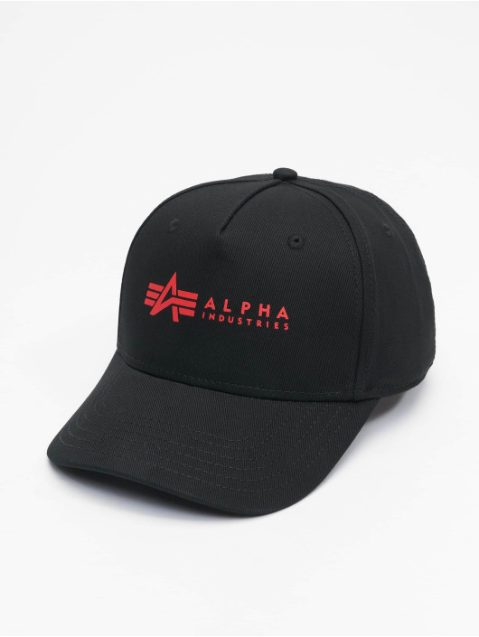 Alpha Industries Snapback Caps Alpha čern