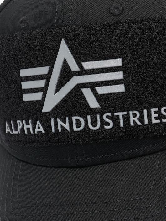 Alpha Industries Snapback Caps BV Reflective Print sølv