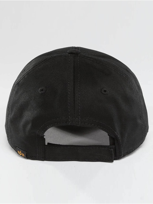 Alpha Industries Snapback Caps Velcro svart
