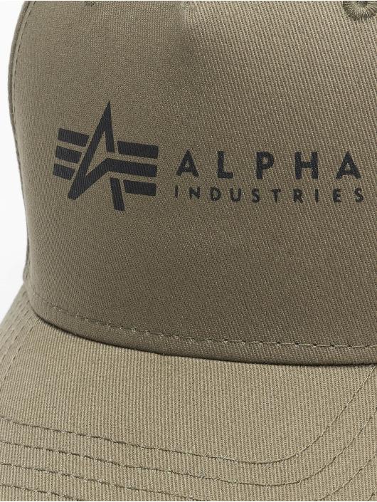 Alpha Industries Snapback Caps Alpha zelený