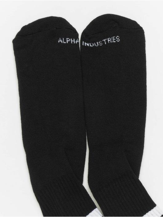 Alpha Industries Sokker Stripe svart