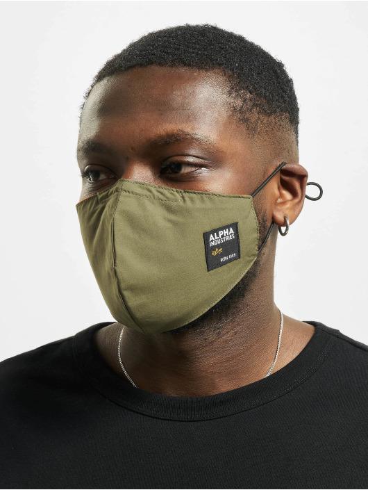 Alpha Industries Sonstige Label Face Mask olive