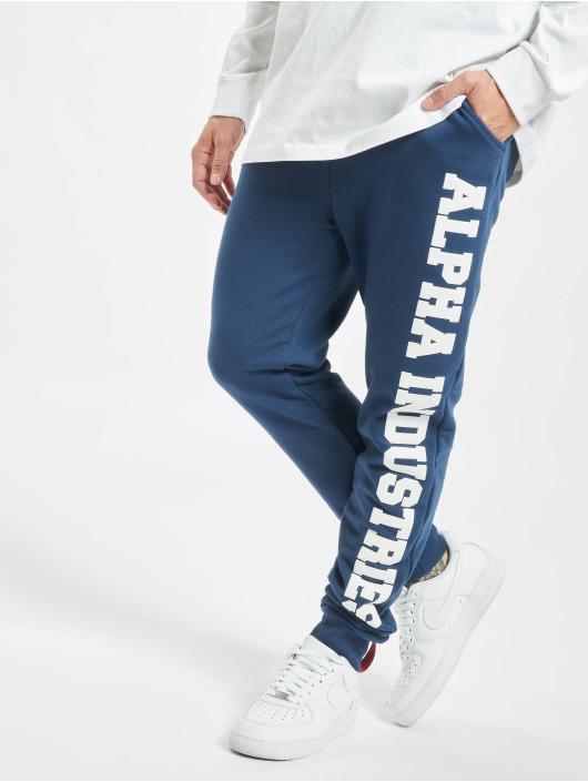 Alpha Industries Spodnie do joggingu Big Letters niebieski