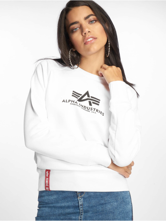 half off 941f9 ee02d Alpha Industries New Basic Sweater White