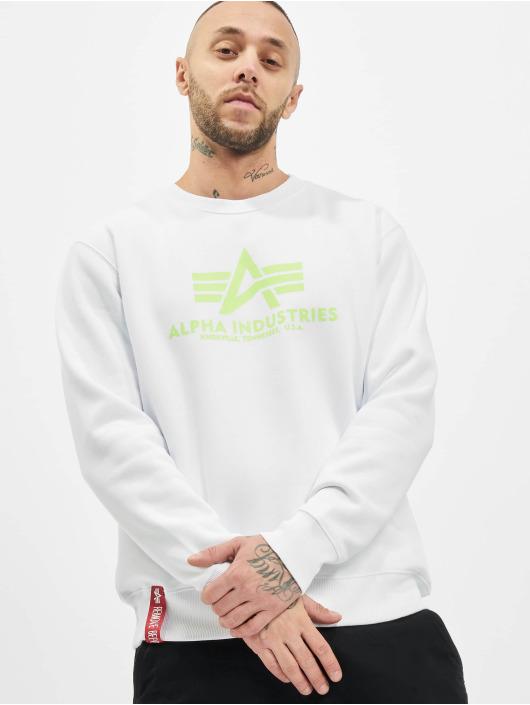 Alpha Industries Sweat & Pull Basic Neon Print blanc