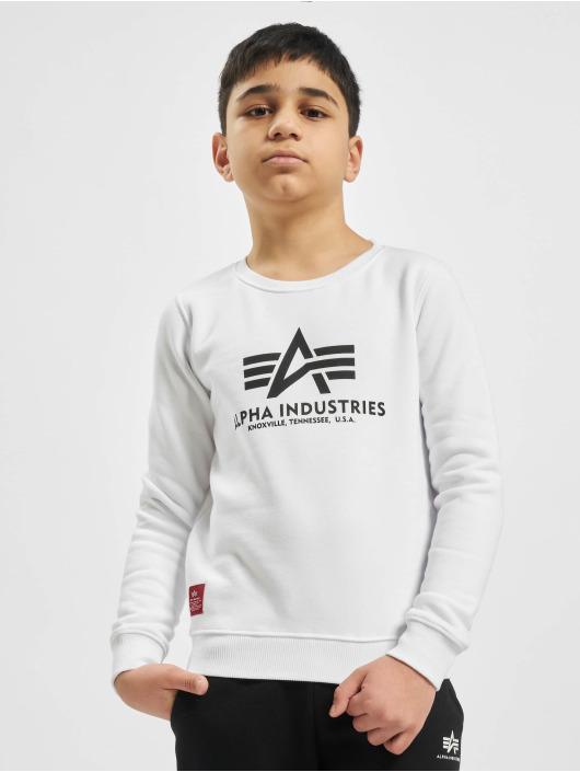 Alpha Industries Sweat & Pull Basic Sweater blanc