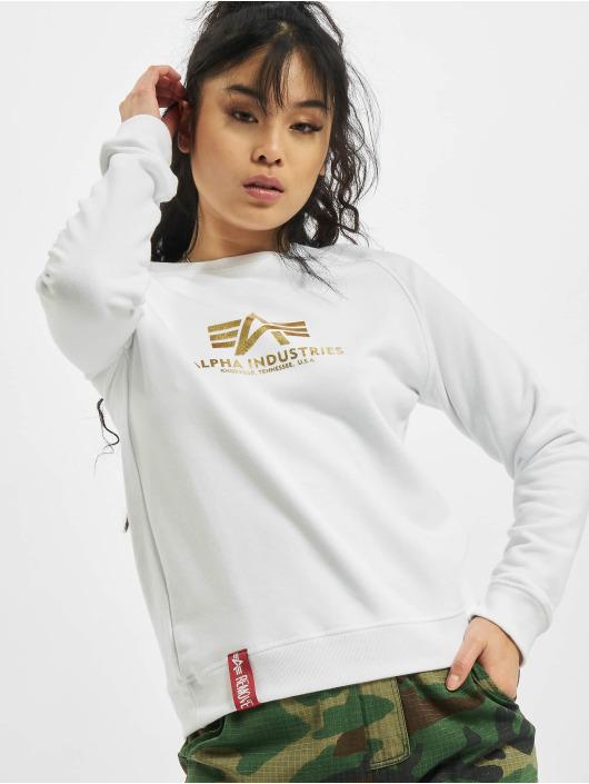 Alpha Industries Sweat & Pull New Basic Womens Foil Print blanc