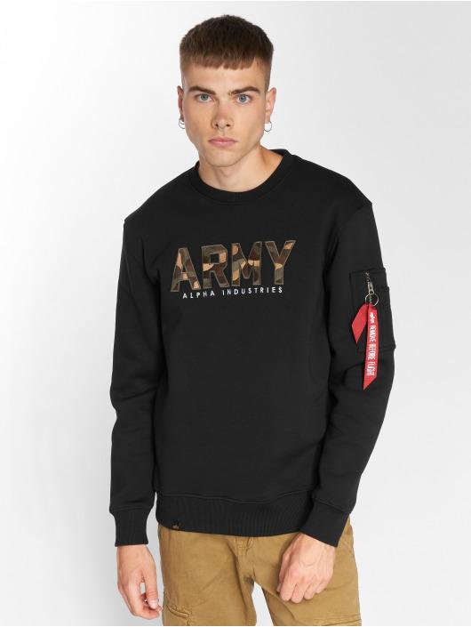 Pull Army Camo 496897 Noir Sweatamp; Alpha Industries Homme TlFK1Jc3