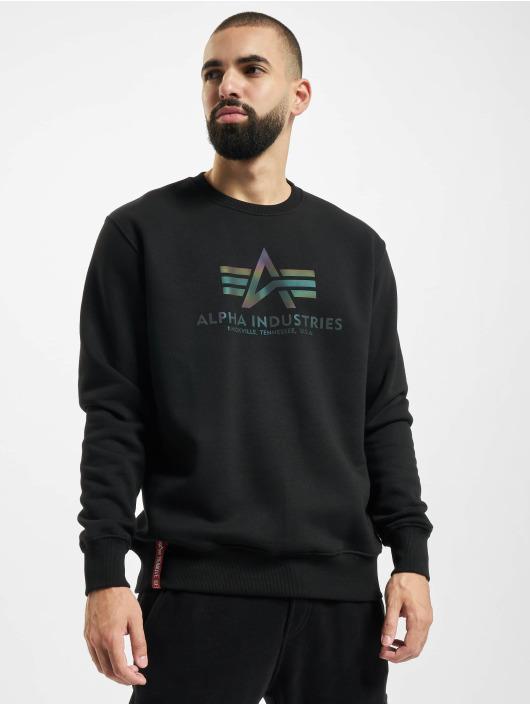 Alpha Industries Sweat & Pull Basic Rainbow Reflective noir