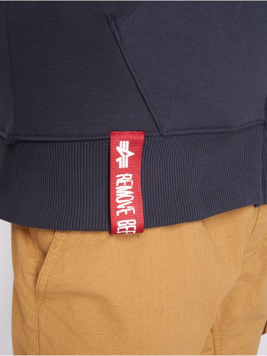 Alpha Industries Sweat capuche zippé Basic bleu