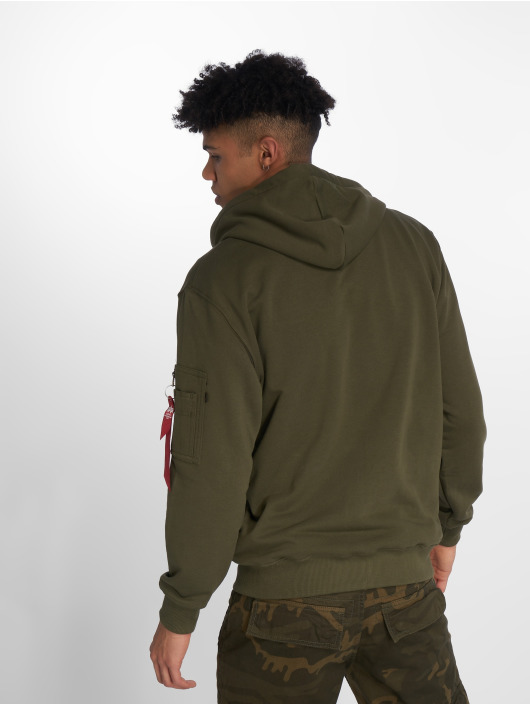 Alpha Industries Sweat capuche zippé X-Fit vert