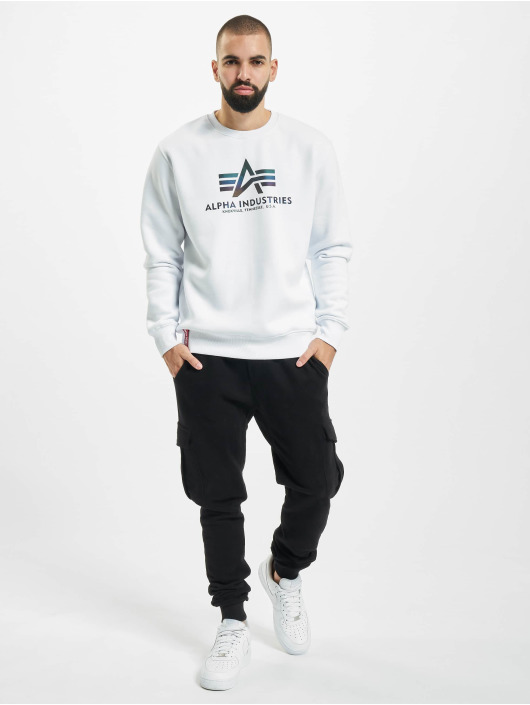 Alpha Industries Swetry Basic Rainbow Reflective Print bialy