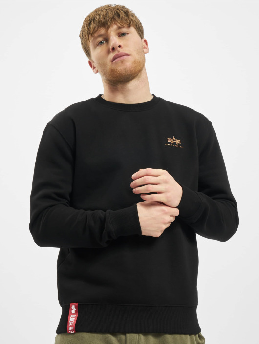 Alpha Industries Swetry Basic Small Logo Foil Print czarny