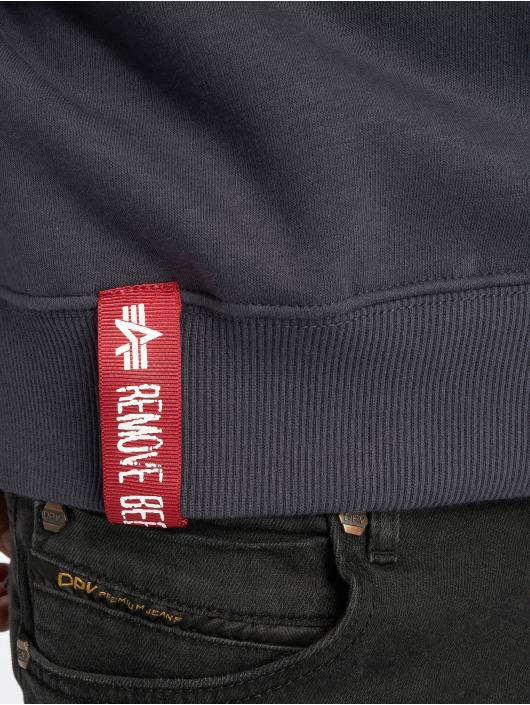 Alpha Industries Swetry Basic Small Logo niebieski