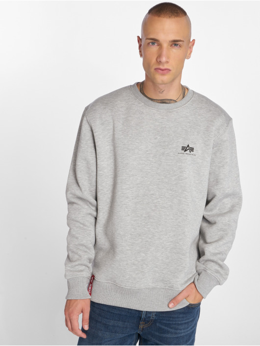 Alpha Industries Swetry Basic Small Logo szary