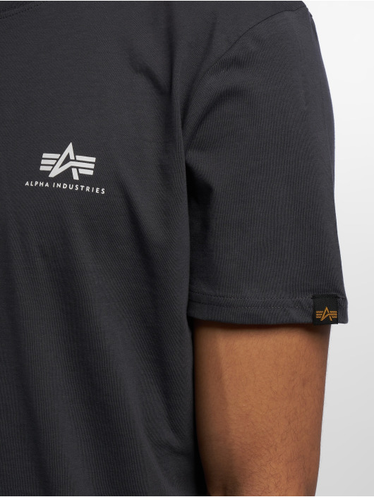 Alpha Industries T-paidat Basic Small Logo harmaa