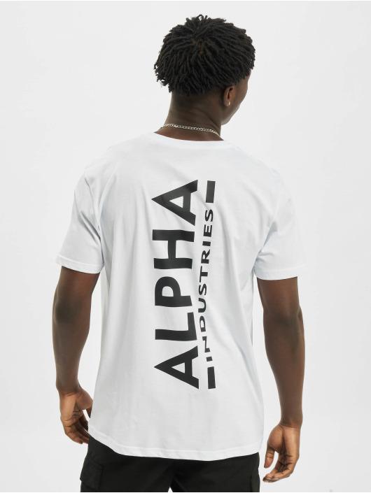 Alpha Industries T-paidat Backprint valkoinen