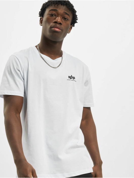 Alpha Industries T-shirt Backprint bianco