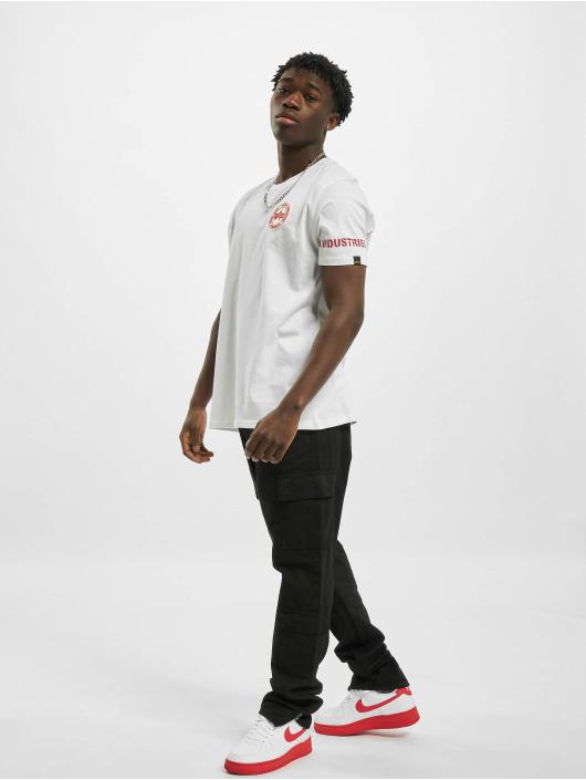 Alpha Industries T-shirt RBF Back Stripe bianco