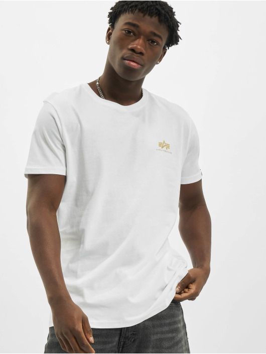 Alpha Industries T-shirt Basic Small Logo Foil Print bianco