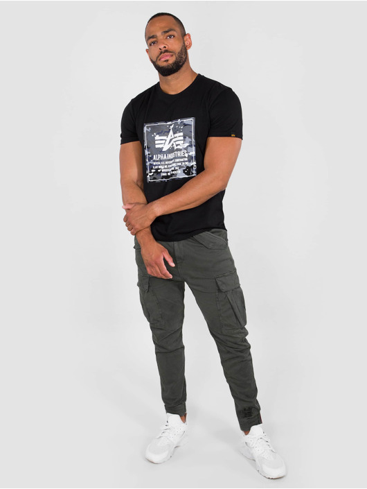 Alpha Industries T-Shirt Camo Block T black