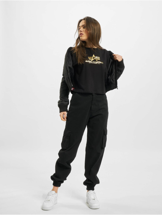 Alpha Industries T-Shirt Basic Cos Foil Print black