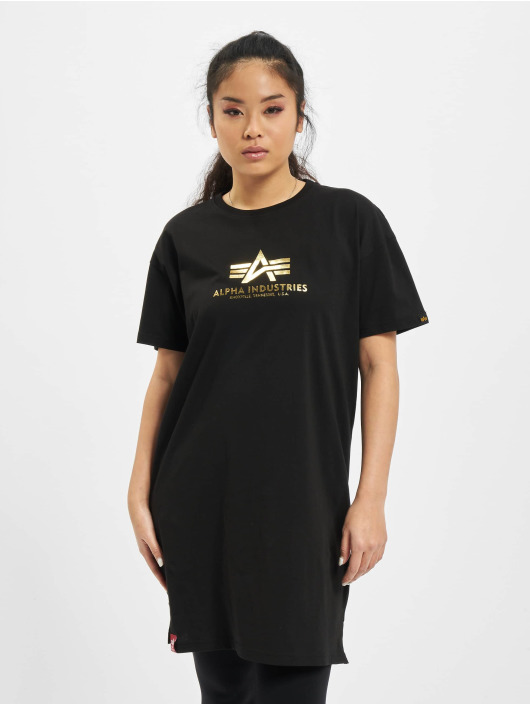 Alpha Industries T-Shirt Basic T Long Foil Print black