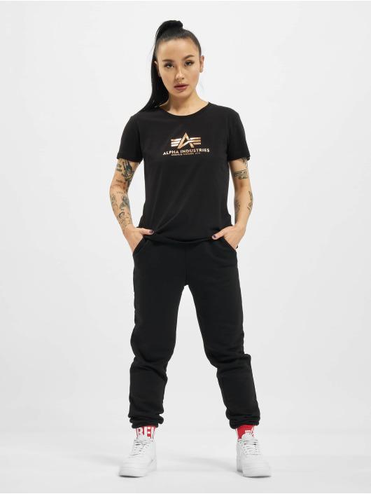 Alpha Industries T-Shirt New Basic Foil Print black