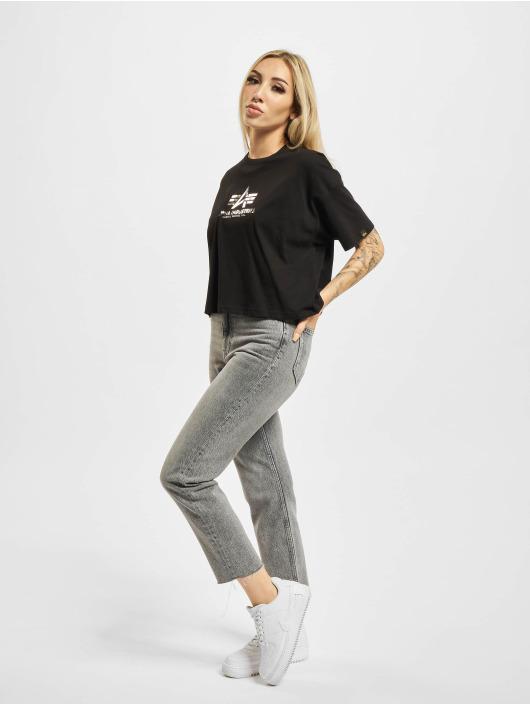 Alpha Industries T-Shirt Basic Print black