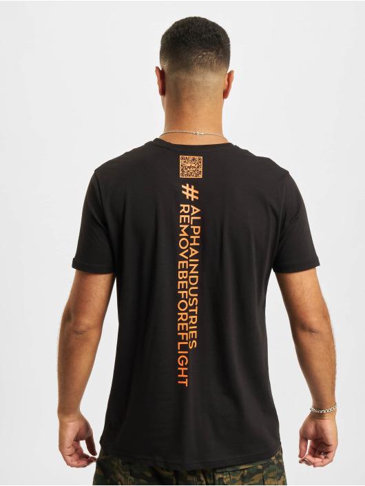 Alpha Industries T-Shirt Qr Code black