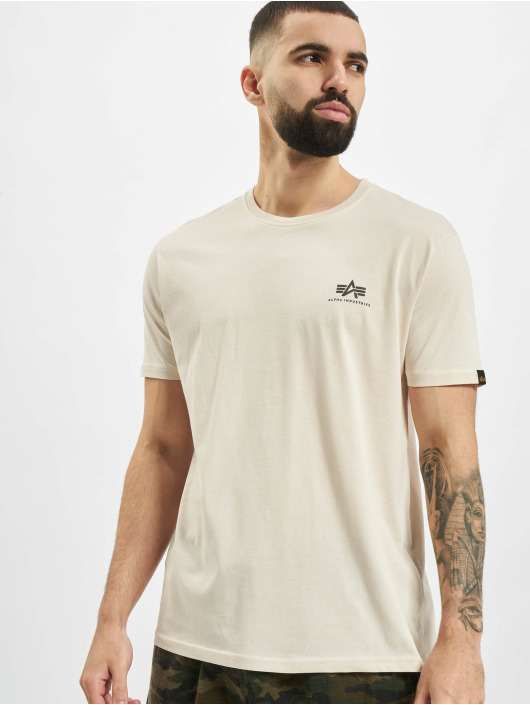Alpha Industries T-Shirt Basic Small Logo blanc