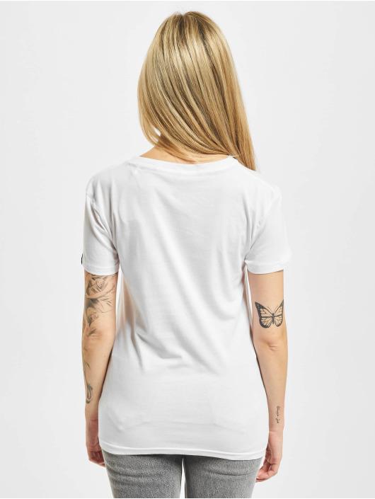 Alpha Industries T-Shirt New Basic Neon Print blanc