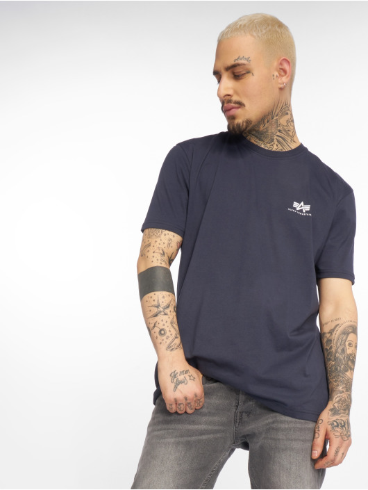 Alpha Industries T-Shirt Basic Small Logo bleu