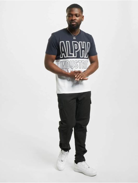 Alpha Industries T-Shirt Block blue